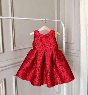 (NEW) Premium Baby Girl Red Grand Dress ( party)