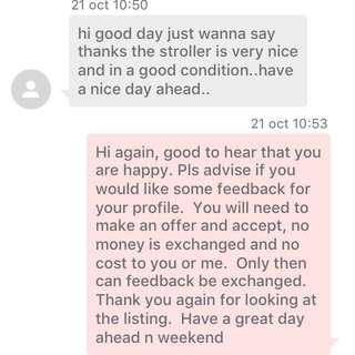 Some Feedback Did Not Make It Into Official Carousell