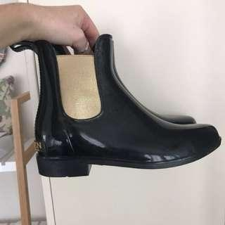 Ralph Lauren Patent Boots Size 38