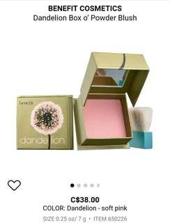 Benefit Cheek Dandelion (New)