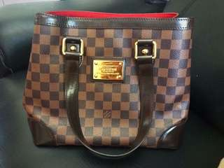 aab19add4685 Authentic louis vuitton Hamstead Pm Damier Ebene