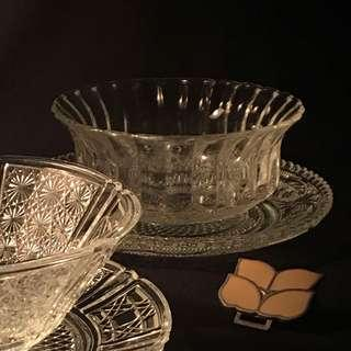 🚚 KIG Indonesia 玻璃午茶水果點心碗盤組(B) • 早期vintage 煙灰缸 首飾收納