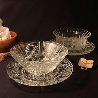 🚚 KIG Indonesia 玻璃午茶水果點心碗盤組(A) • 早期vintage 煙灰缸 首飾收納