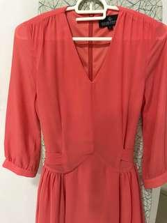 BNWT Doublewoot Chiffon Coral Dress
