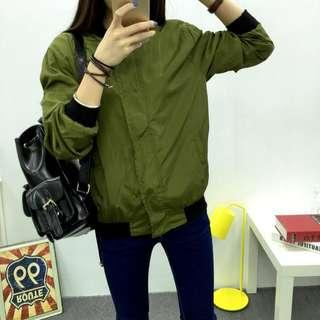 Army Green Bomber Jacket (good condition)