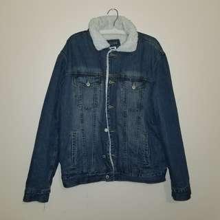 Vintage gap sherpa jean jacket