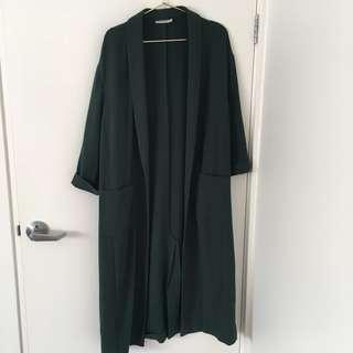 Urban Outfitters long jacket in green