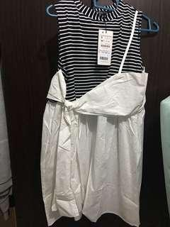 INSTOCK - NEW Casual Simple Ribbon Strip Dress