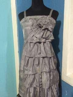 Pd & co. Grey Tiered Dress cocktail dress