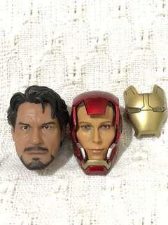 Head Sculpt - Tony Stark and Iron Man Pepper pots