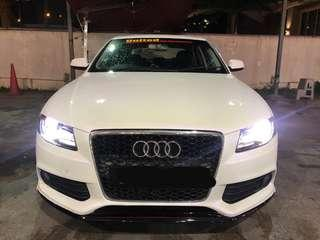LUXURY SPORTY TIP TOP CONDITION AUDI A4 1.8TFSI FOR RENTAL AT YOUR SERVICE **GRAB READY FOR GRAB PREMIUM.