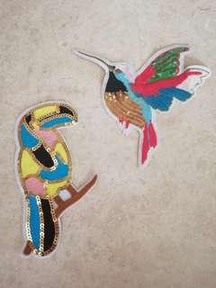 Sew on patch - Bird and Parrot