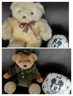 熊熊玩偶*2