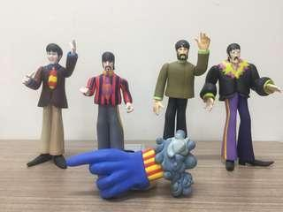 The Beatles McFarlane Rare Original Collectible OOB Figures Yellow Submarine