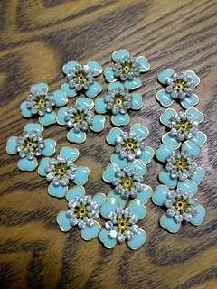 [50%OFF] Turquoise Flower Metal Beads