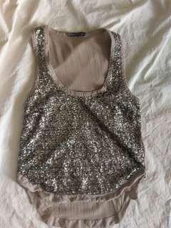 Beautiful sequinned tank by Spencer Lacy (ONCE WAS)