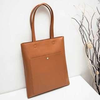 🆕 shoulder bag hand bag tote bag 返工袋 2色 黑色 棕色