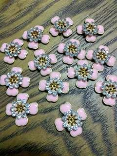 [50%OFF] Pink Flower Metal Beads