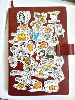 35pcs Egg funny Gudetama Stickers