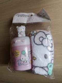 New Sanrio Hello Kitty Towel/ Handkerchief with container #SBUX50 #SINGLES1111