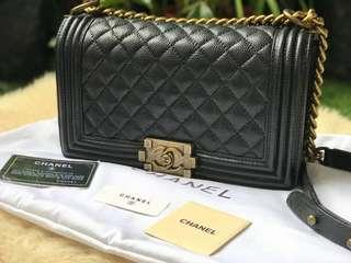 Chanel Le Boy with Ruthenium Hardware