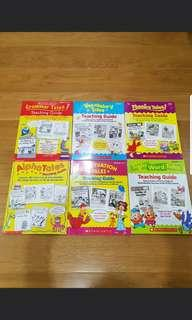 Scholastic teaching guide punctuation sight word alpha grammar vocabulary phonics tales English book