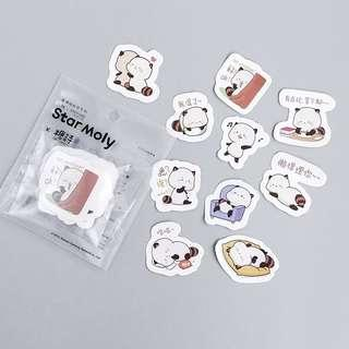 🚚 [In stock] 40 Pcs Chubby Racoon Daily Stickers for Planner Journal or Scrapbooking