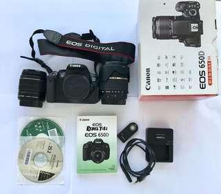 Canon EOS 650D with Canon 18mm-55mm & Tamron 18-200mm lens