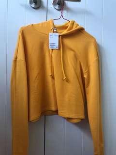 Yellow crop hoodie