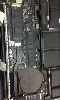 Macbook retina repair no power short board