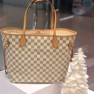 🧡Very good deal!🧡 LV Neverfull MM in Damier Azur Canvas