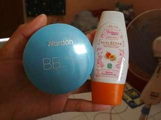 Sepaket Wardah BB Lightening Powder + Purbasari