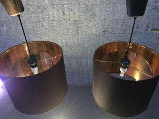 Black Lamp Shade with Brass color