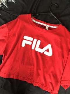 Cropped fila top