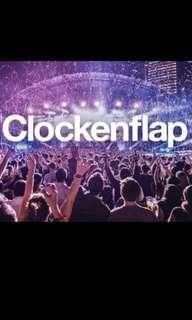 Want to buy: 2 x 3 day pass clockenflap