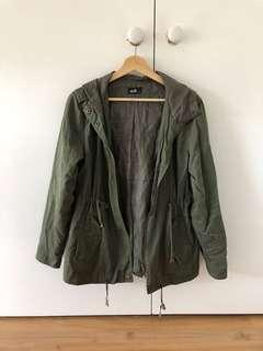 Dotti green parka jacket