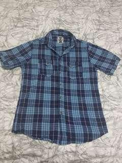 Revival Blue and White Checked shirt