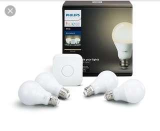Philips hue 4 bulbs warm colour starter pack + Hub
