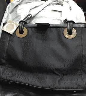 Authentic Oroton Stencil Medium Tote Bag (black)