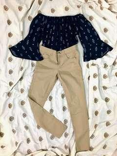 BNEW!CALLOPE SALE! TOP AND PANTS BUNDLE