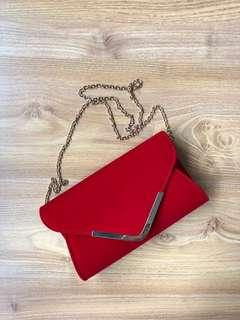 Collete red clutch
