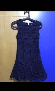 Thread theory poetic architature navy blue dress