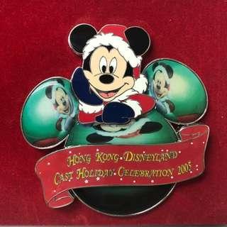 絕版極罕Disney Pin 2005迪士尼米奇Mickey襟章