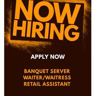 PART-TIME JOBS AVAILABLE