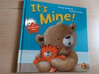 It's Mine Hardcover Children Soft to Touch book #SBUX50 #EVERYTHING18 #SINGLES1111