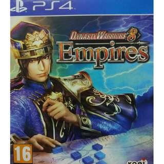 Used Playstation 4 PS4 Dynasty Warriors 8 Empires Region 2 (NEAREST MRT)