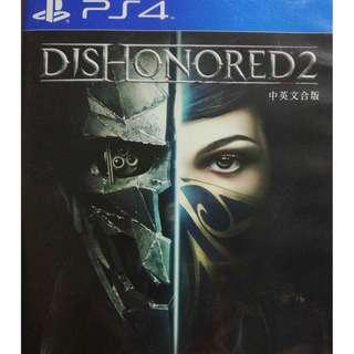 Used Playstation 4 PS4 Dishonored 2 Region 3 (NEAREST MRT)