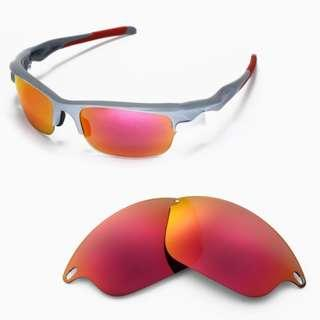 508e3a4c5c5 Fast Jacket Fire Red POLARIZED Walleva Replacement Lenses for Oakley Fast  Jacket Sunglasses
