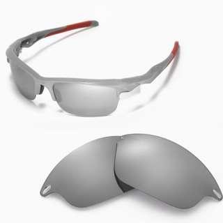 d63a6cbc724a3 Fast Jacket Titanium POLARIZED Walleva Replacement Lenses for Oakley Fast  Jacket Sunglasses