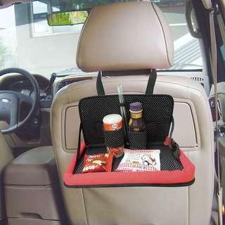 新款kitty車用置物架車用置物箱凱蒂貓車用後座置物袋多功能椅背置物架